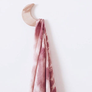 Bamboo Cotton Tie Dye Swaddle Blush- Lion and Lamb the Label