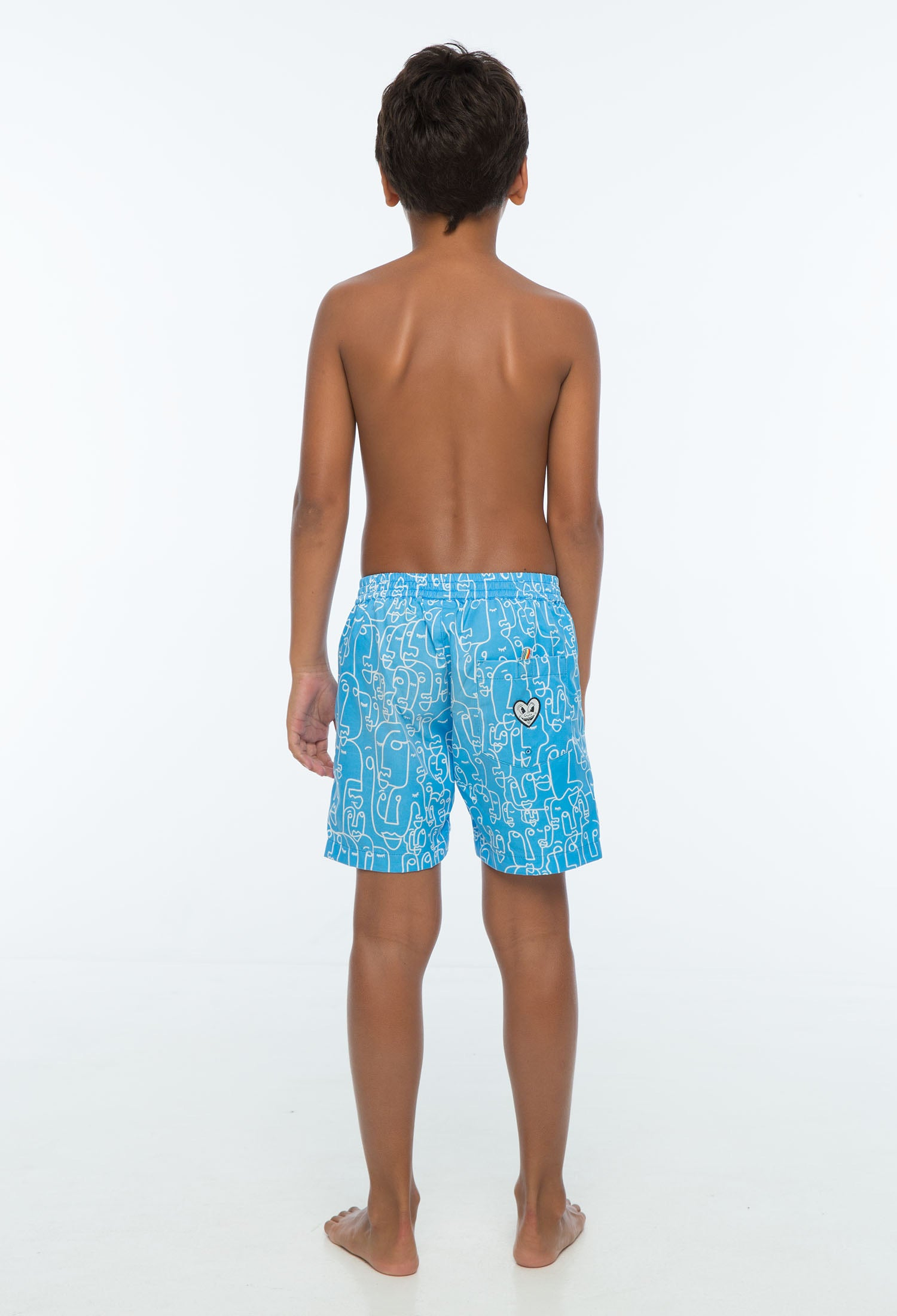 Zuttion - Faces Sky Board short