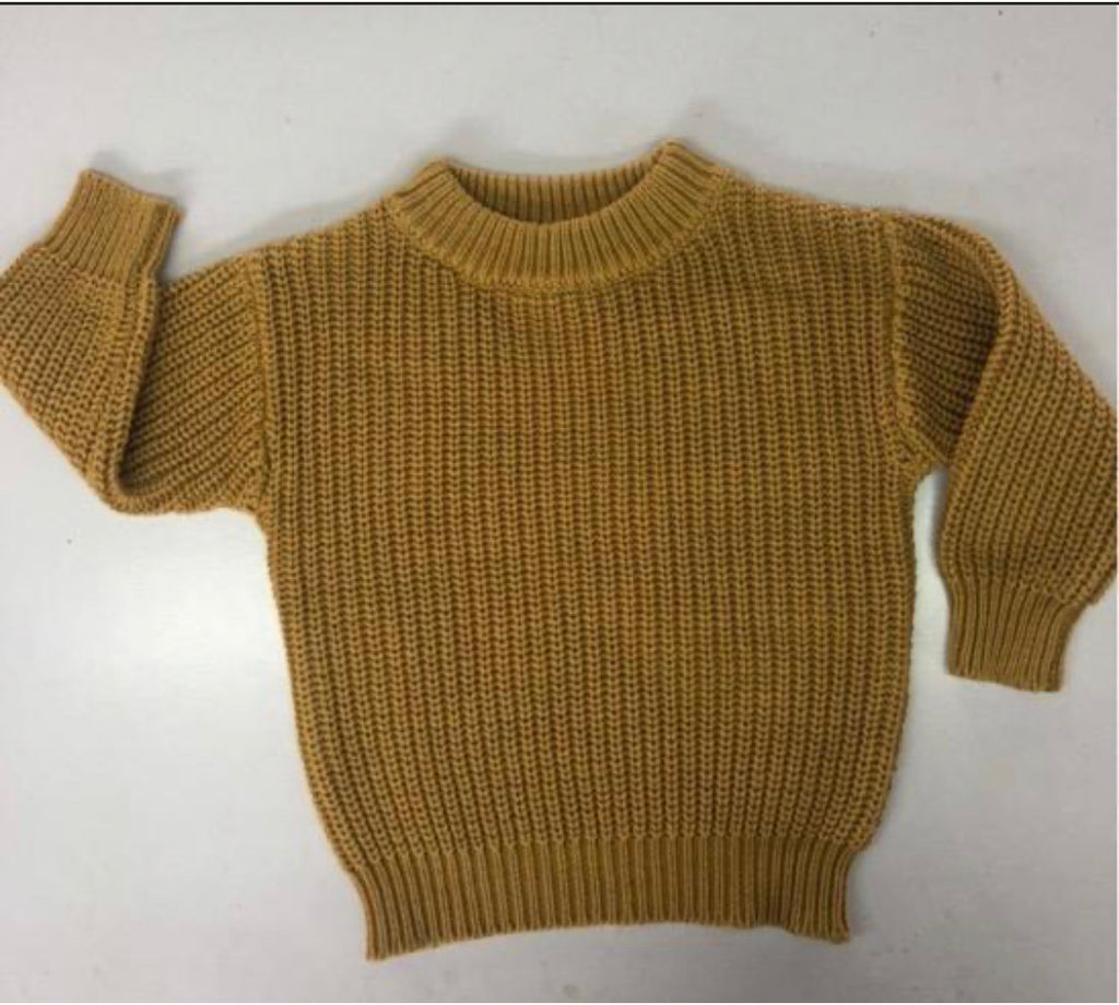 Halo and Horns - CHUNKY KNIT SWEATER - ORGANIC COTTON - HONEY