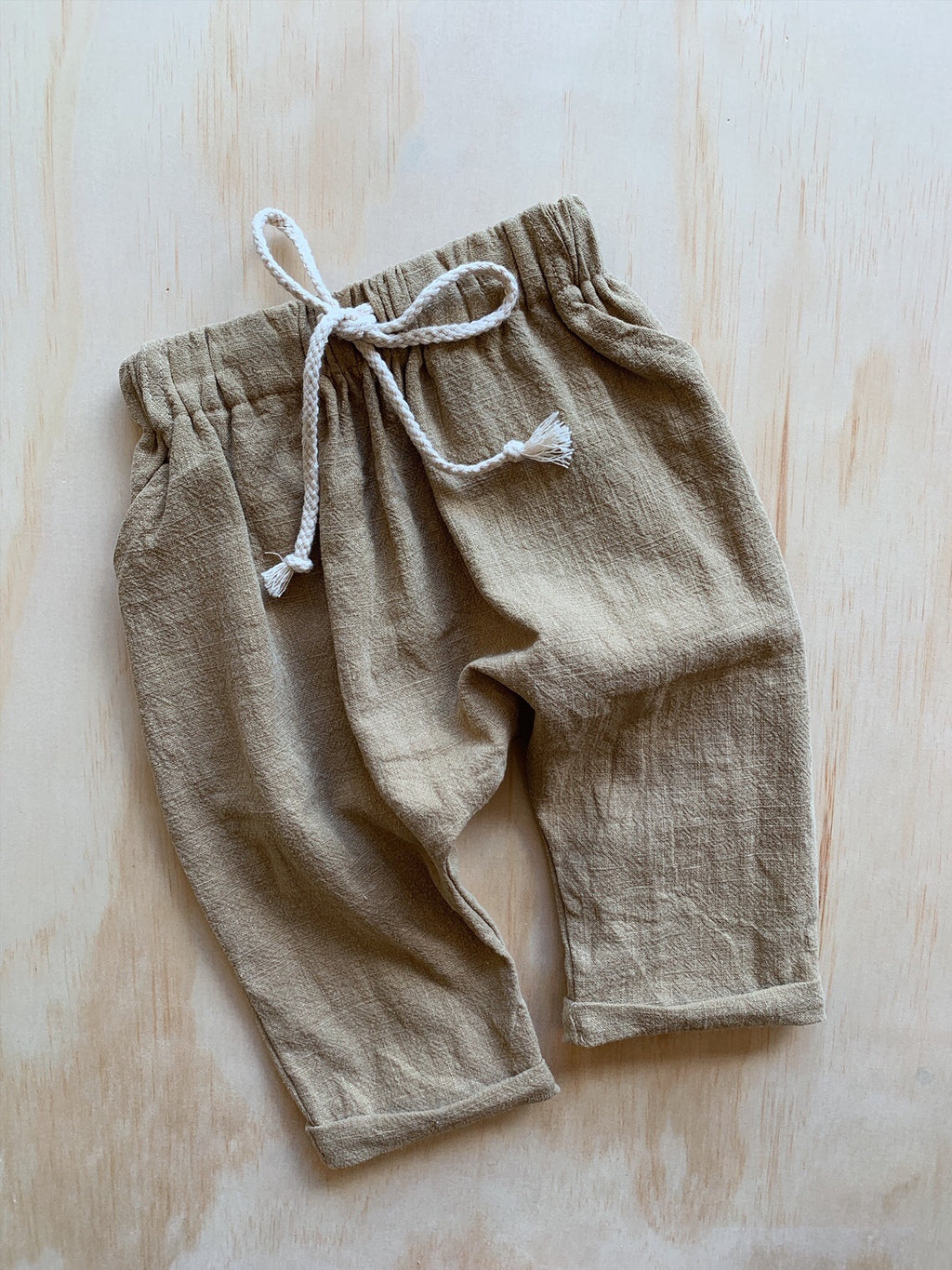 Linen Chinos Sand- Our Folk