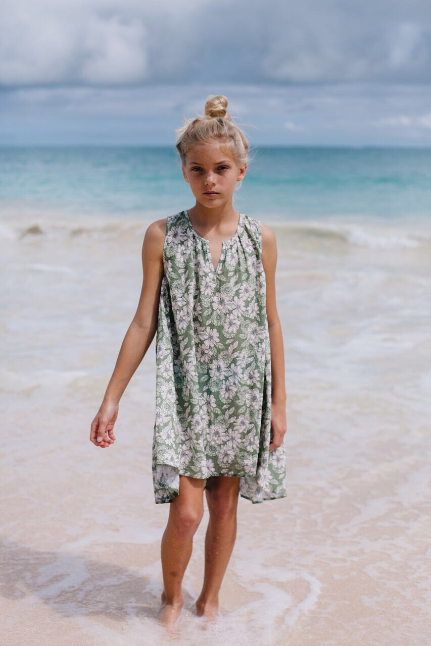Floral Hi-Lo Dress- Island State Co