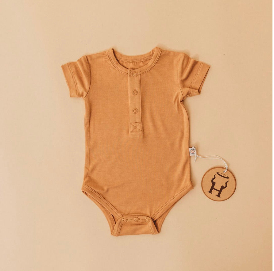 Halo and Horns ONESIE - BAMBOO BASIC - GINGER