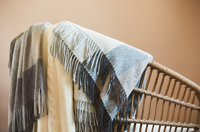 Cashmere blankets that will make your couch more comfortable