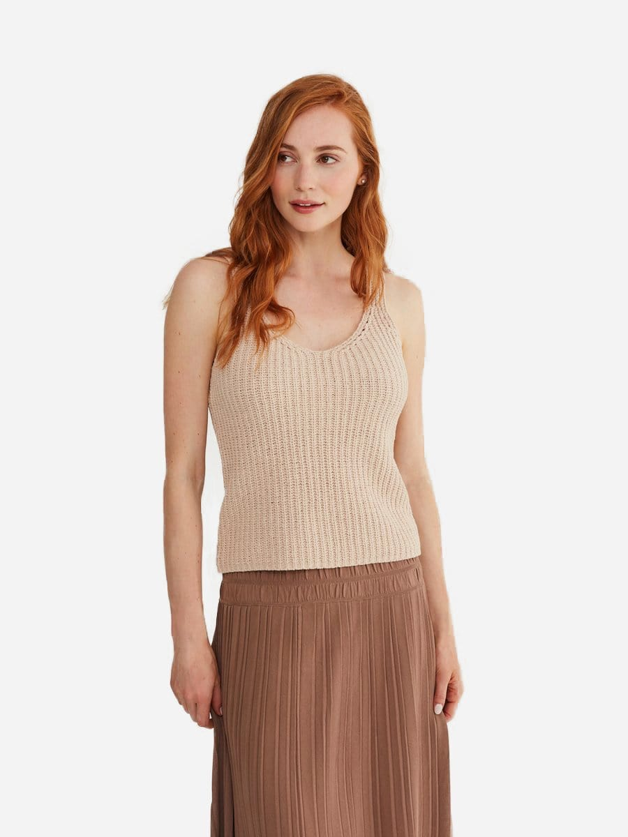 Cotton Tank Top Sweater