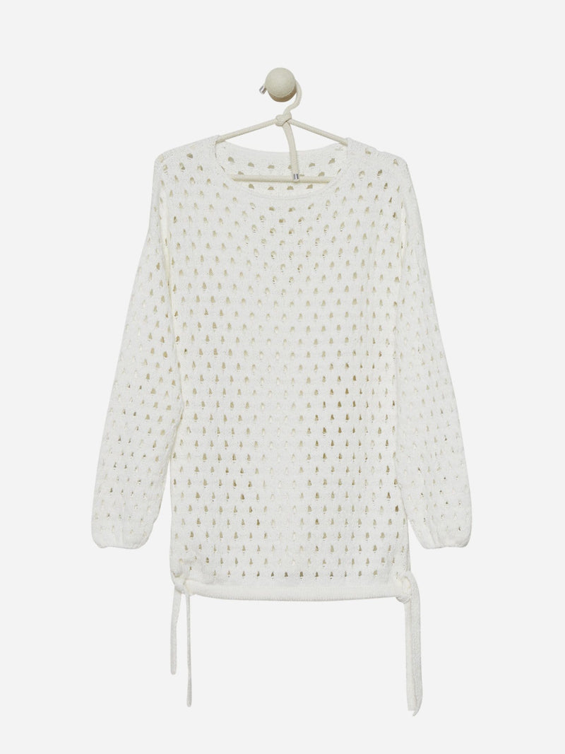 Bright White - Open Stitch Sweater - Open Stitch Sweater