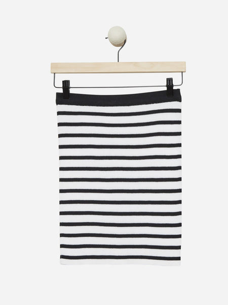 White/Black Stripe