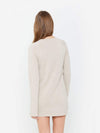 Doeskin - Long Sleeve Crew Neck Cashmere Sweater Dress - Long Sleeve Crew Neck Cashmere Sweater Dress