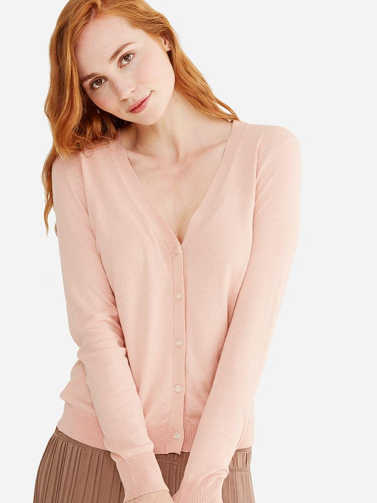 Nude Pink - Basic Sheer Cardigan - Basic Sheer Cardigan