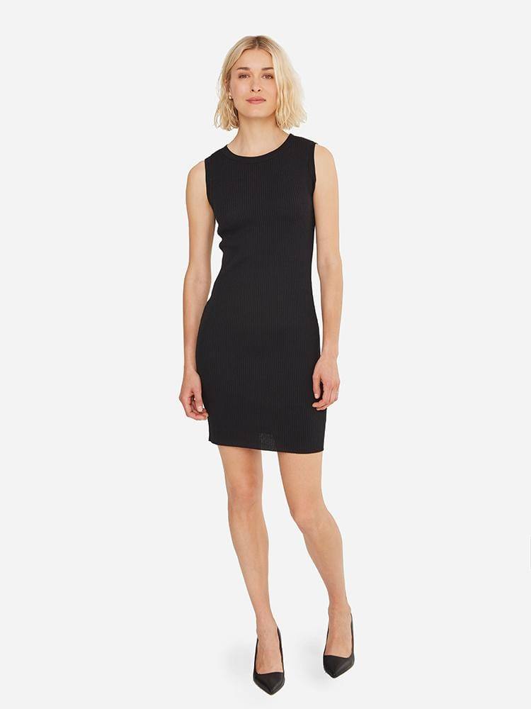 Black - Bodycon Sweater Dress - Bodycon Sweater Dress
