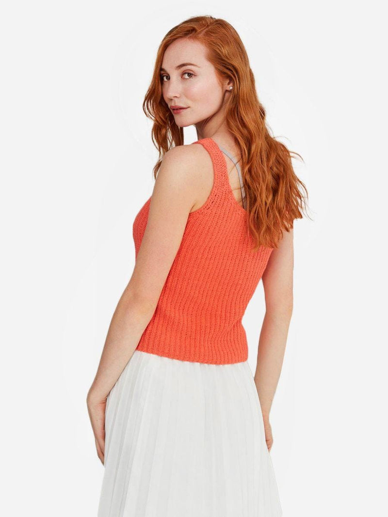 Living Coral - Cotton Tank Top Sweater - Cotton Tank Top Sweater