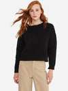 Black - Cotton Cashmere Boatneck Square Sweater - Cotton Cashmere Boatneck Square Sweater