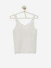 Bright White - Cotton Tank Top Sweater - Cotton Tank Top Sweater