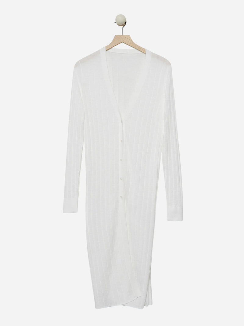 Ecru - Sheer Cardigan Dress - Sheer Cardigan Dress