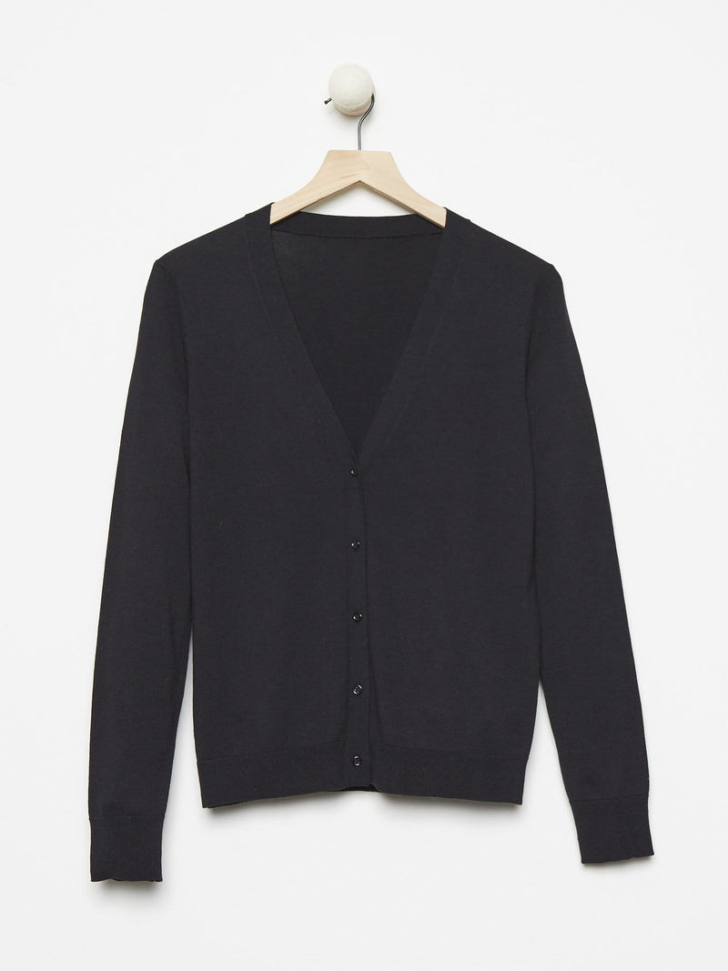 Black - Basic Sheer Cardigan - Basic Sheer Cardigan