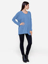 Baby Blue - Oversized Crew Neck Cashmere Sweater - Oversized Crew Neck Cashmere Sweater