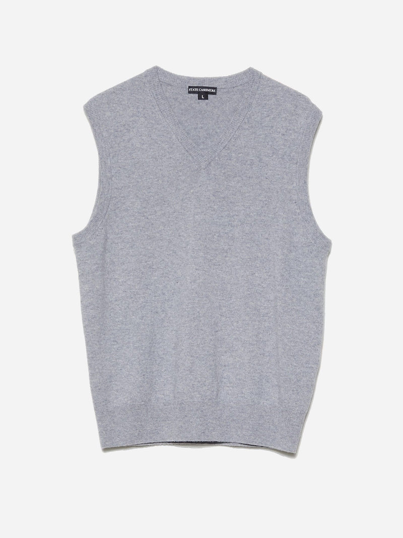 Heather Grey - Men's Casual Sweater Cashmere Vest - Men's Casual Sweater Cashmere Vest