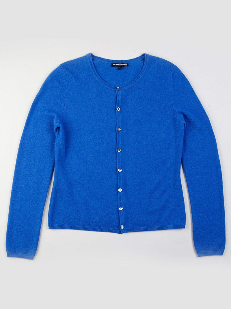 Royal - Crew Neck Button Up Cashmere Cardigan - Crew Neck Button Up Cashmere Cardigan