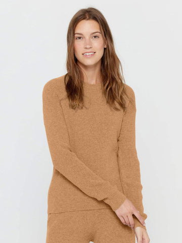 Long Sleeve Crew Neck Cashmere Sweater Dress