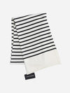 Black/White Stripes - Cashmere Stripe Scarf - Cashmere Stripe Scarf
