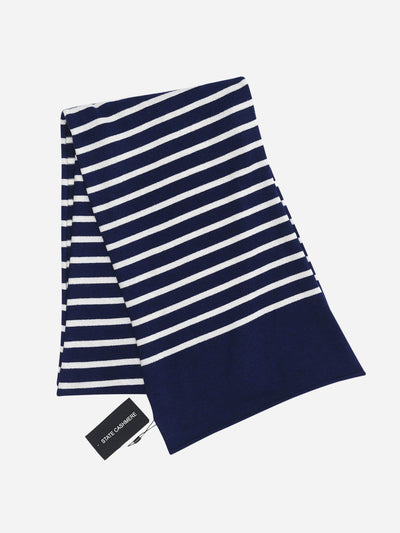 White/Navy Stripes