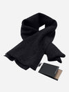 Black - Cashmere Winter Wrap Scarf - Cashmere Winter Wrap Scarf