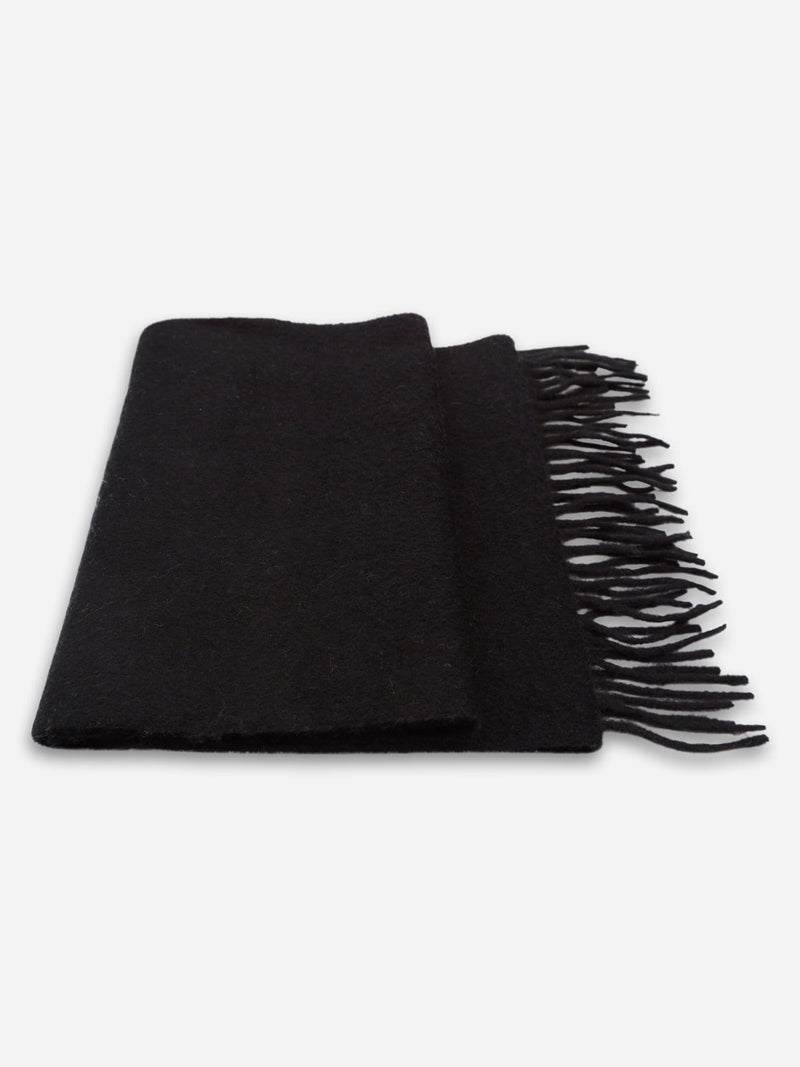 Black - Unisex Fringe Solid Color Scarf - Unisex Fringe Solid Color Scarf