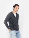 Men's Button Mock-Neck Cashmere Polo Sweater