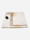 Eggshell/Tan/Marigold - Cashmere Colorblock Stripe Throw Blanket - Cashmere Colorblock Stripe Throw Blanket