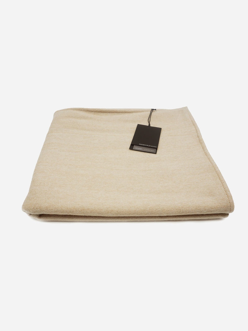 Cammello/Beige - Wool Cashmere Double Sided Home Blanket - Wool Cashmere Double Sided Home Blanket