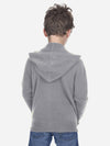 Heather grey - Kids Wool Cashmere Full-Zip Hoodie - Kids Wool Cashmere Full-Zip Hoodie