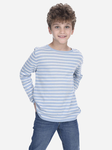 Kids Cable Crew-Neck Sweater