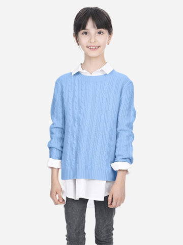 Kids Ribbed High-Neck Shirt