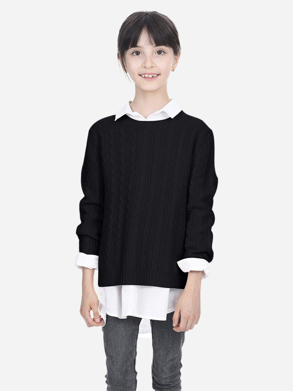 e8097fdbe Kids Cable Crew-Neck Sweater