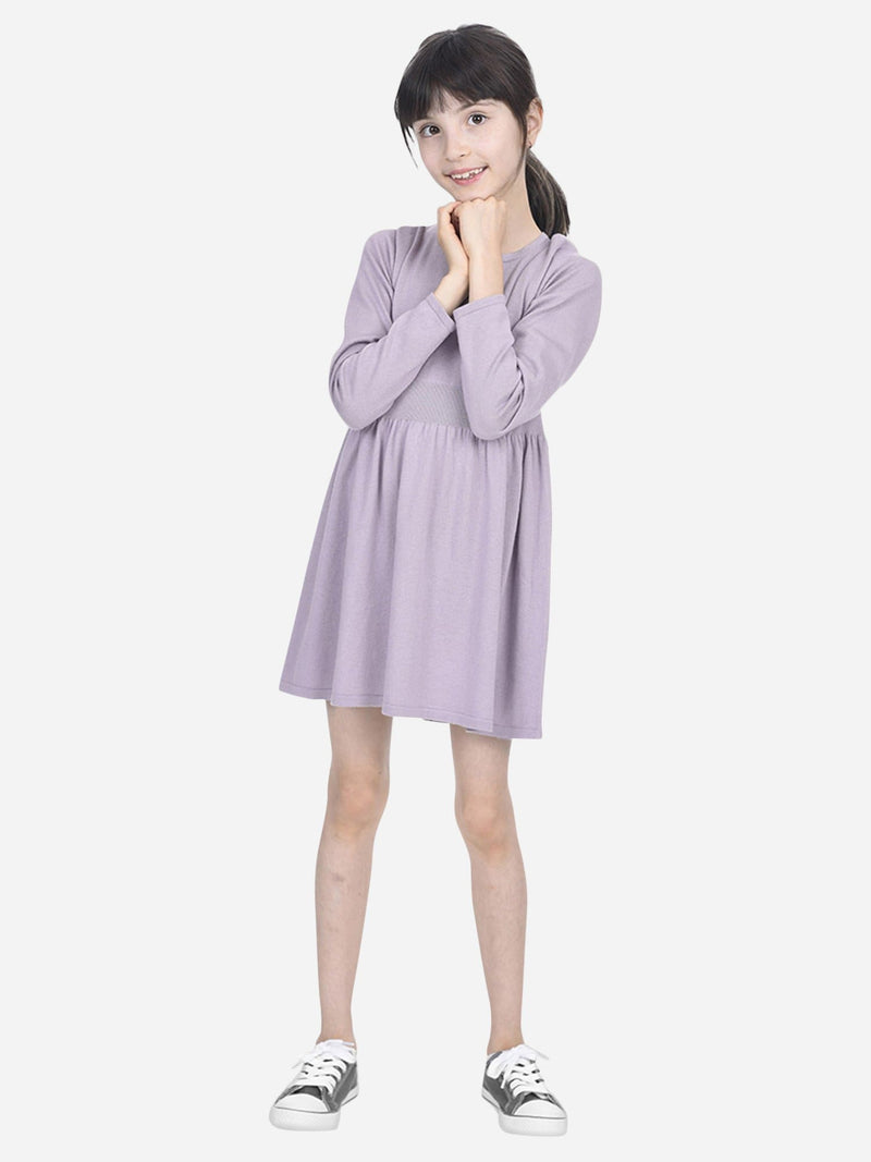 Lavender - Girl Drop-Waist Dress - Girl Drop-Waist Dress
