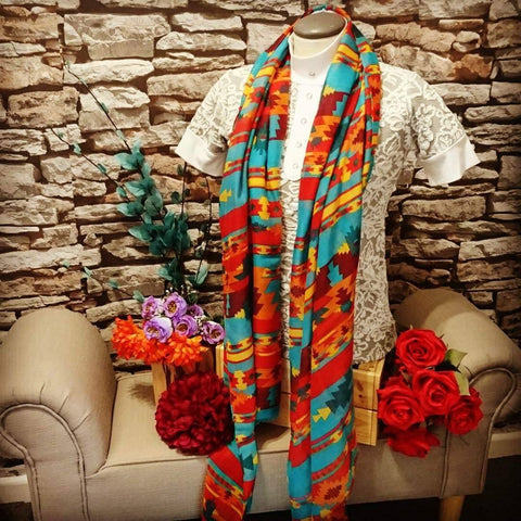 Noble Outfitters Fearless Scarf in Navajo Print