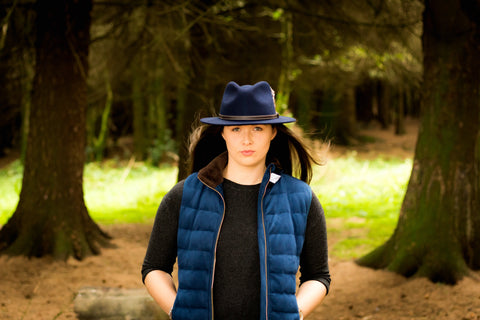 Sporting Hares Windermere Gilet in Deep Blue
