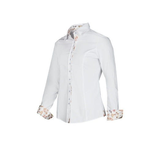 Baleno Clothing Ladies Mary Tailored Shirt in White