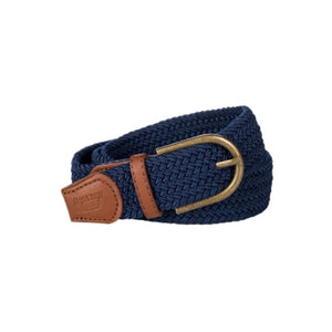 Baleno Clothing Pascal Stretchy Belt in Navy with Tan