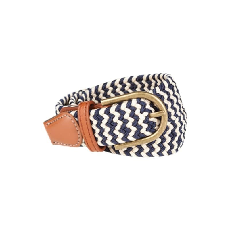 Baleno Clothing Pascal Stretchy Womens Belt in Sand and Navy