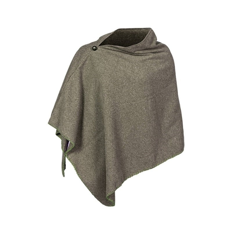 Baleno Country Clothing Shirley Cape Poncho for women in Moss Green Colour