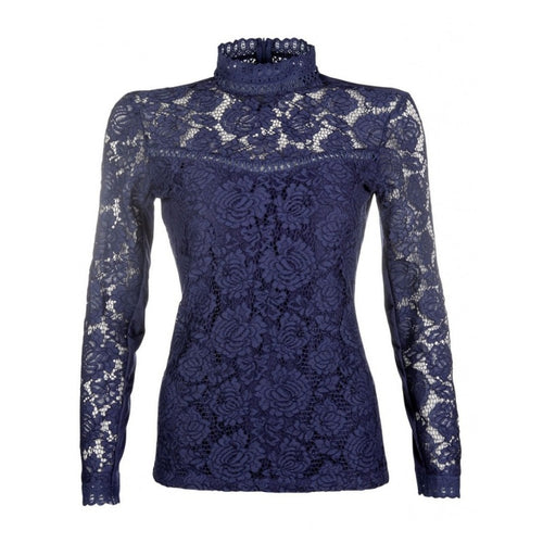 HKM Sports Equipment Lace Competition Shirt in Deep Blue