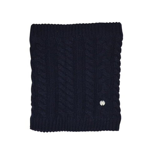 HyFASHION Meribel Cable Knit Snood in Navy