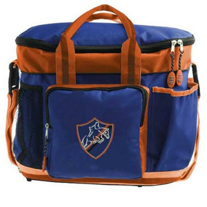 HySHINE Pro Horse & Pony Grooming Bag in Navy & Orange
