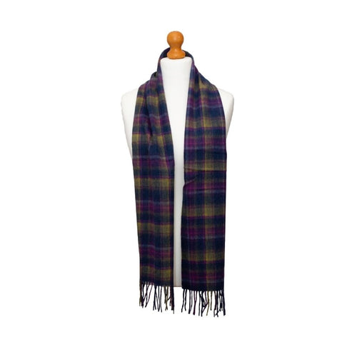 Kiltane of Scotland Lambswool Scarf in Old Town Classic Check, Ness Clothing