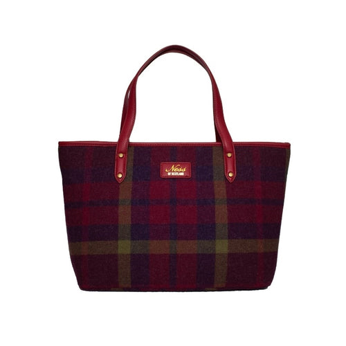 Ness Strathy Tweed Tote Bag in Morningside Oversized Check