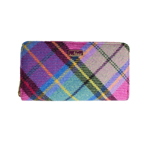 Ness Zippy Bright check Purse