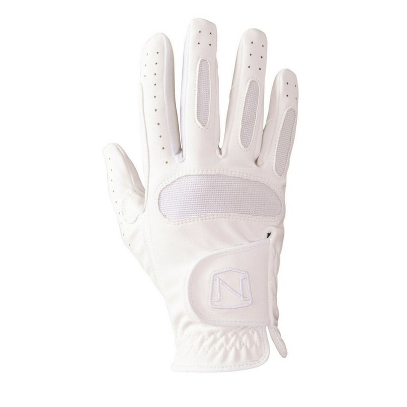 horse riding gloves white