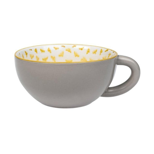 Sophie Allport Bees Patterned Grey Coffee Cup