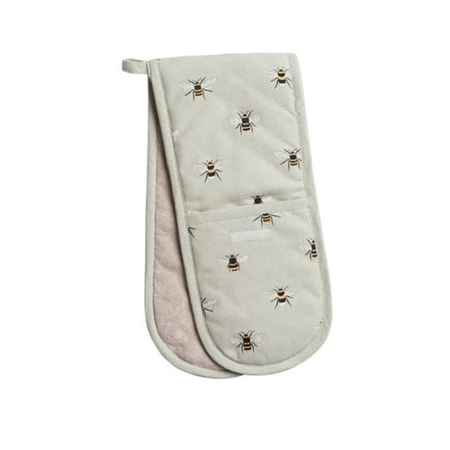 Sophie Allport Double Oven Glove in Bee Print