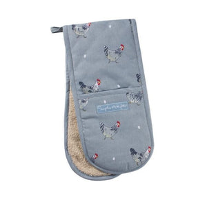 Sophie Allport Double Oven Glove in Chicken Print